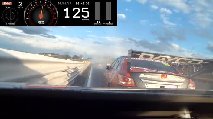 On-board vision of Supercars crash revealed
