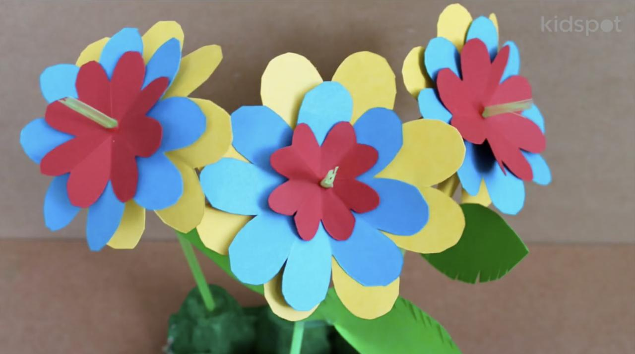 How To Make Paper Flowers Video Kidspot