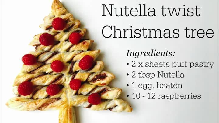 how to make a nutella twist christmas tree kidspot