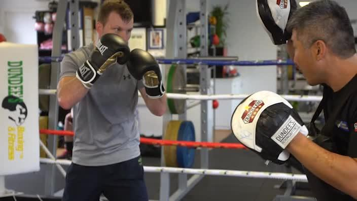 Jeff Horn trains for Manny Pacquiao fight. Video- Peter Wallis