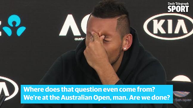 Nick Kyrgios fires back at 'bizarre' question from U.S. reporter