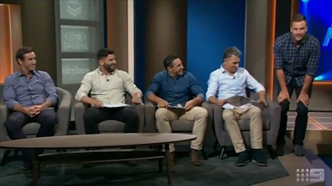 The new Footy Show starts with awkward blunder