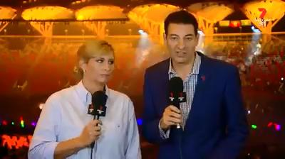 Channel 7 hosts Johanna Griggs and Basil Zempilas' extraordinary on-air spray